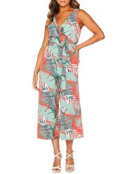 Quiz Tropical Wrap Culotte Jumpsuit