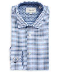 Ted Baker - Plaid Cotton Dress Shirt - Lyst