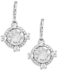 Kate Spade - Crystal Cascade Faceted Stone Drop Earrings - Lyst