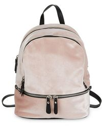 Lord & Taylor - Faux Zippered Velvet Backpack - Lyst