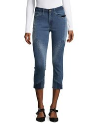 Buffalo David Bitton - Faith Frayed Ankle Jeans - Lyst