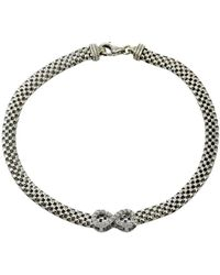Lord & Taylor - Sterling Silver Infinity Necklace - Lyst