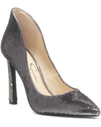 Jessica Simpson - Parma Sequined Pointy Court Shoes - Lyst