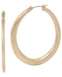 Robert Lee Morris - Grey Gardens Sculptural Hoop Earrings - Lyst