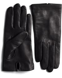 Lord & Taylor - Silk-lined Leather Gloves - Lyst