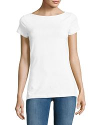 Lord & Taylor - Plus Cotton-blend Tee - Lyst