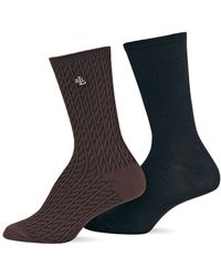 Ralph Lauren - 2-pack Supersoft Cable Trouser Socks - Lyst