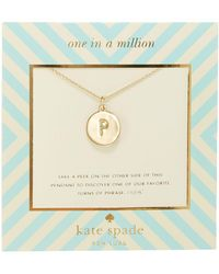 Kate Spade | One In A Million Letter Pendant Necklace | Lyst