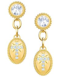 Swarovski - Goldplated And Crystal Magnetic Pierced Earrings - Lyst