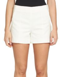 1.STATE - Solid Flat Front Shorts - Lyst