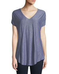 Jones New York - V-neck Tee - Lyst