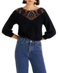 Mango - Jersey Pebble Sweater - Lyst