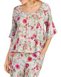Kensie - Floral Off-the-shoulder Pyjama Top - Lyst
