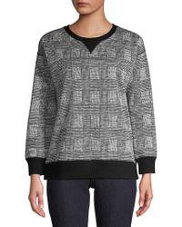 Jones New York - Glen Plaid Back-zip Sweater - Lyst