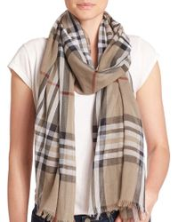 Lord & Taylor - Cotton Plaid Scarf - Lyst