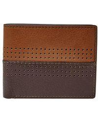 Fossil - Cody Rfid Flip Id Leather Bi-fold Wallet - Lyst