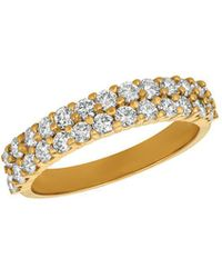 Morris & David - Diamond And 14k Yellow Gold Ring - Lyst