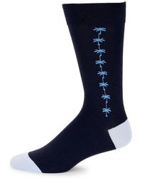 Tommy Bahama - Mini Palm-print Crew Socks - Lyst