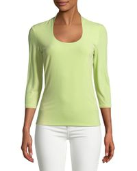 Lord & Taylor - Three-quarter Sleeve Top - Lyst