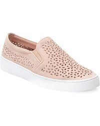 Vionic - Perforated Leather Trainers - Lyst