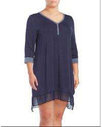 DKNY | Lace Hem Dress | Lyst