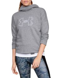 Under Armour - Rival Logo Fleece Hoodie - Lyst
