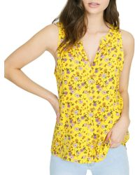 Sanctuary - Floral Printed Craft Shell Blouse - Lyst