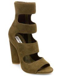 Steve Madden - Tawnie Peep Toe Dress Boots - Lyst