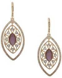 Lonna & Lilly - Gold-tone Crystal & Stone Orbital Drop Earrings - Lyst
