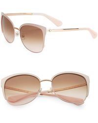 42825f2796 Kate Spade - Genice 57mm Round Sunglasses - Lyst