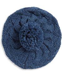 Modena | Pom Pom Accented Knit Beanie | Lyst
