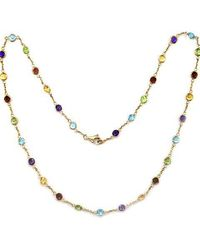 Effy - 14 Kt. Yellow Gold Multicolor Station Necklace - Lyst