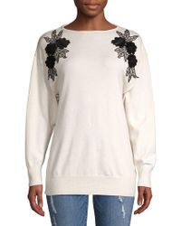 Dorothy Perkins - Floral Batwing-sleeve Sweater - Lyst