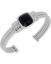 Lord & Taylor - Sterling Silver Onyx Bangle Bracelet - Lyst