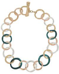 Robert Lee Morris - Hearts Tri-tone Circle Collar Necklace - Lyst