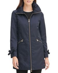 Karl Lagerfeld - Packable A-line Rain Jacket - Lyst