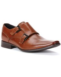 CALVIN KLEIN 205W39NYC - Bayard Leather Double Monk-strap Shoes - Lyst