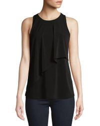 Ellen Tracy - Sleeveless Overlay Top - Lyst