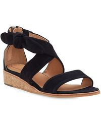 Corso Como - Rasque Demi-wedge Suede Sandals - Lyst