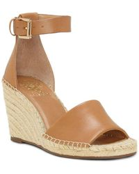 Vince Camuto - Leera Leather Wedge Espadrilles - Lyst