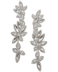 Belle By Badgley Mischka - Crystal Linear Drop Earrings - Lyst