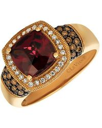Le Vian - Raspberry Rhodolite And 14k Strawberry Gold Solitaire Ring - Lyst