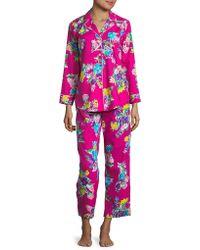 Lauren by Ralph Lauren - Petite Printed Pyjamas - Lyst