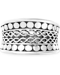 Lord & Taylor - 925 Sterling Silver Filigree Infinity Ring - Lyst