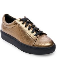 Lord & Taylor - Odell Snake Print Sneakers - Lyst