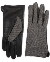 Calvin Klein - Wool And Leather Knit Gloves - Lyst