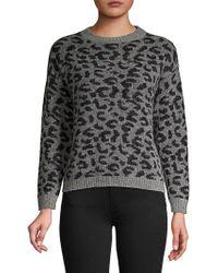 Marella - Leopard Print Crewneck Jumper - Lyst