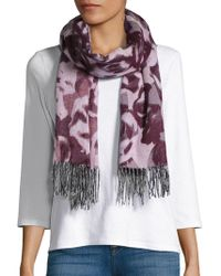 Lord & Taylor - Tonal Rose Blanket Scarf - Lyst