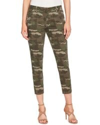 William Rast - Camouflage Cropped Skinny Jeans - Lyst