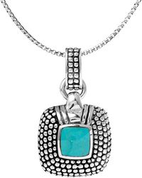 Lord & Taylor - Square Sterling Silver Pendant - Lyst